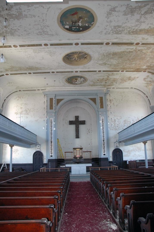 Emanuel Lutheran Church, Interior QVNA, 2009. Photograph by Al Dorof.